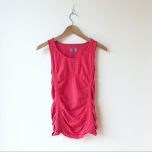 Red Athleta Gathered Tank